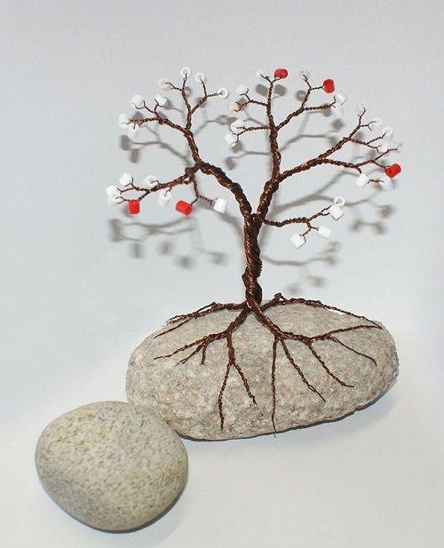 готовое дерево из бисера фото
