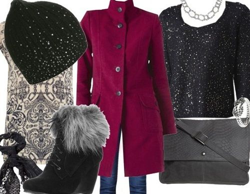 сочетание с классическим пальто фото