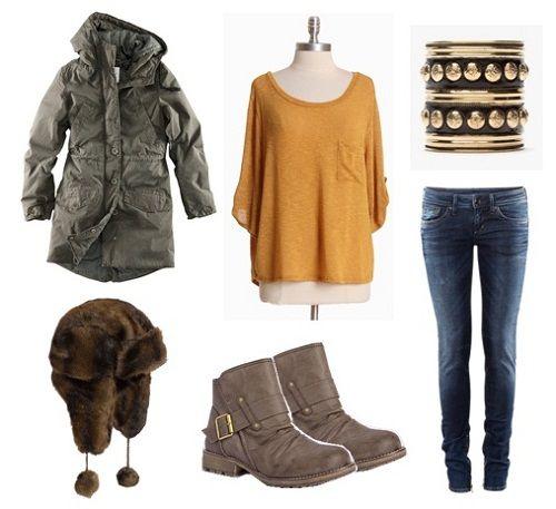 пальто и меховая шапка фото