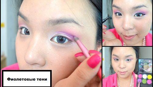 красим глаза фиолетовым фото