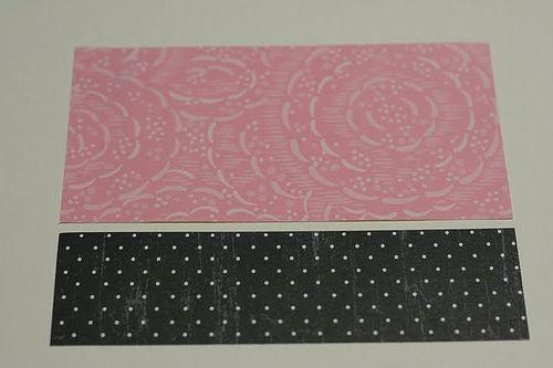 вырезаем отрезки из бумаги для скрапбукинга фото
